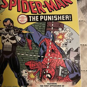 spidar man and punisher very rare comic book for Sale in Los Gatos, CA