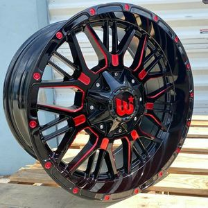 """Brand New 20"""" WPXT 20X10 6X139.7 / 6x135 Black Red Milled Wheels for Sale in Miami, FL"""