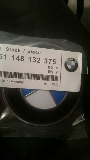 BMW 74mm trunk emblem for Sale in Huntington, NY