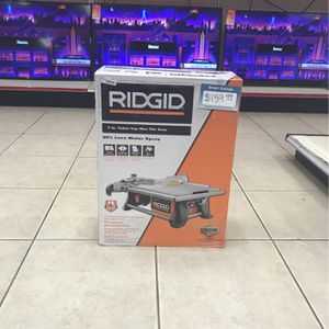 WOW!! BRAND NEW RIGID 7in Table Top Wet Tile Saw  $139.99 for Sale in Phoenix, AZ