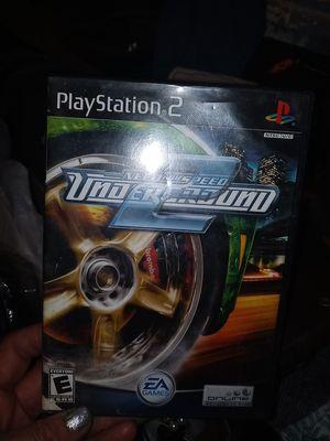 Need for Speed underworld Underground 2 PlayStation 2 for Sale in Wichita, KS