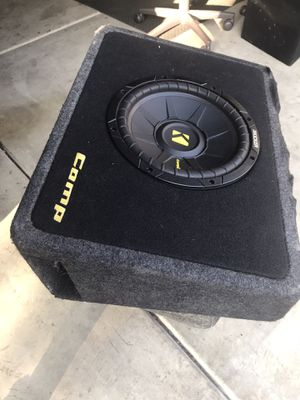Kicker competition subwoofer with kicker slim box for Sale in Fullerton, CA