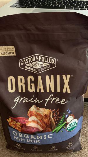New Sealed Puppy Dog Dry Food Feed Grain Free CASTOR & POLLUX ORGANIC CHICKEN 10 lb. ($47 at Amazon) for Sale in Los Angeles, CA
