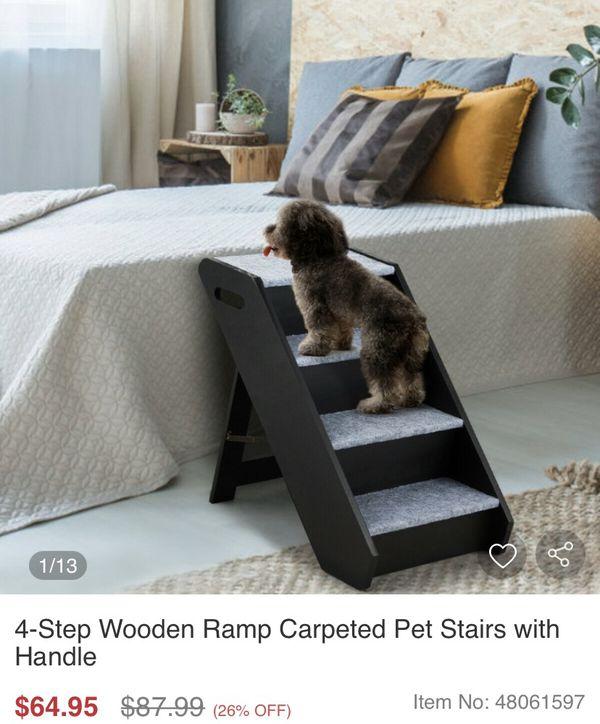 *SALE* 4-STEP WODDEN DOG RAMP NEW!