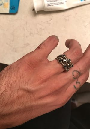 925 black onyx stacked ring for Sale in Columbia, SC