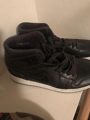 Nike Air Jordan 1 Mid Black Leather Size 13 for Sale in Phoenix, AZ