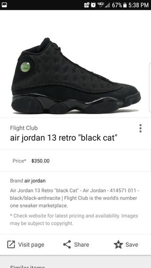 Jordan retro 13s black cats brand new for Sale in Williamsport, PA
