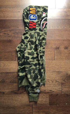 Bape shark hoodie full zip Green for Sale in Doubs, MD