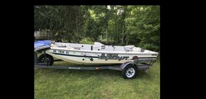 Fiberglass fishing boat and trailer for Sale in Cleveland, OH