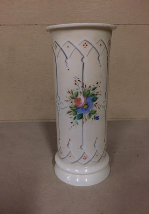 Antique Hand Painted Floral Bristol vase for Sale in San Diego, CA
