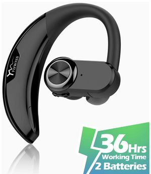 Bluetooth Headset [36Hrs Playtime, 2 Batteries, V4.2] Wireless Bluetooth Earpiece for Cell Phone Noise Canceling Car Earbuds Headphones with Mic Comp for Sale in Piscataway, NJ