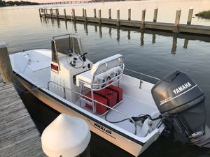 17ft Boston whaler montauk center console w/ Yamaha outboard for Sale in Chesapeake, VA