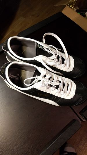 Puma size 14 black and white foot wear for Sale in Oxon Hill, MD