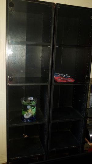 2 tall glass door shelves for Sale in DeLand, FL