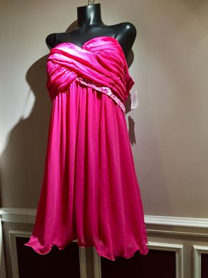 NWT Debs Hot Pink Dress Formal Prom Dance Plus for Sale in Grayslake, IL