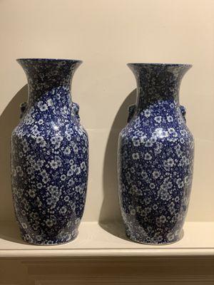 Two big vases for Sale in Centreville, VA