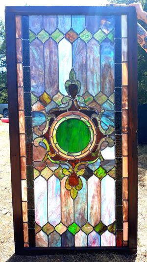 Stained glass window in original frame for Sale in Austin, TX