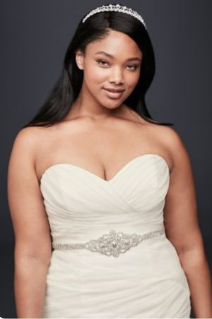 Plus Size Ruched Organza Wedding Gown for Sale in Severna Park, MD