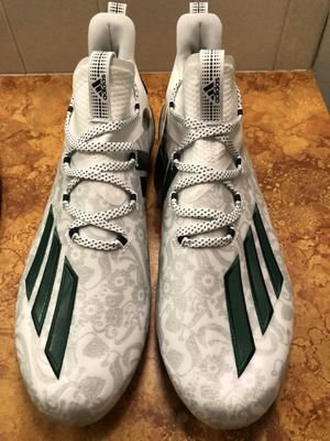 Adidas Adizero Young King White / Green Men's Football Cleat New FU6706 Size 11. for Sale in Valley Center, KS