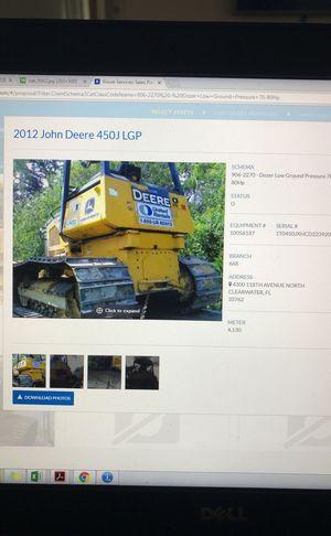 2012 John Deere 450J LGP Dozer for Sale in Palm Springs, FL
