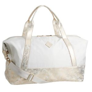 "Pottery Barn SLEEPOVER DUFFLE BAG Gold Metallic 25"" for Sale in Florence, OR"