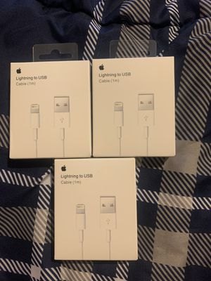 3 Original 1m Lightning Chargers for 17$ Blowout Sale for Sale in Pembroke Pines, FL