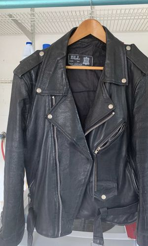 Great condition BLL rich leather motorcycle jacket size 44 for Sale in Newnan, GA