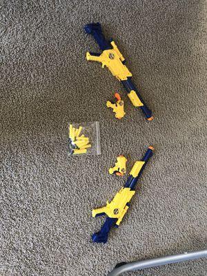 Nerf Guns X2 (4 guns and bullets) for Sale in Henderson, NV