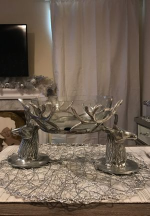 Selling beautiful reindeer candy dish key dish for Sale in Silver Spring, MD