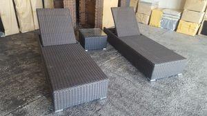 Patio Furniture Chaise Lounge Pair Set, no cushion for Sale in Phoenix, AZ
