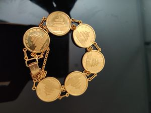 Chinese Panda Solid Gold coin bracelet. for Sale in Pleasanton, CA