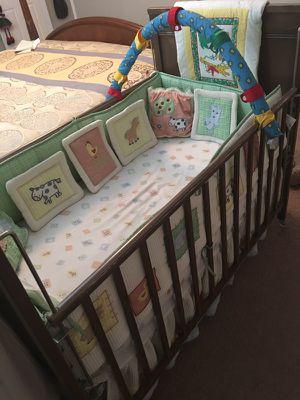 Baby crib , mattress and full bedding set for Sale in Salt Lake City, UT