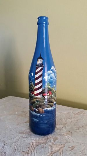 LIGHTHOUSE GLASS BOTTLE for Sale in Winter Haven, FL