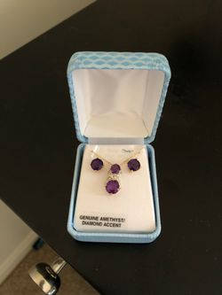 Amethyst earring and necklace set for Sale in Arlington,  VA