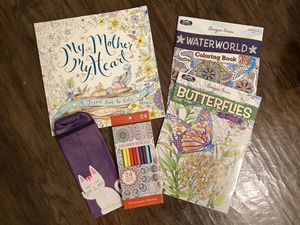 Adult coloring books and colored pencils for Sale in Dunedin, FL