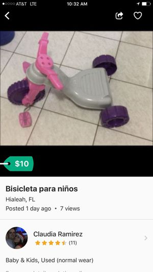 Toddler trycicle for Sale in Hialeah, FL