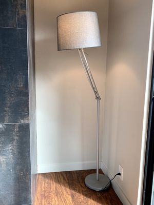 Silver Floor Lamp with Grey Shade for Sale in Pacifica, CA