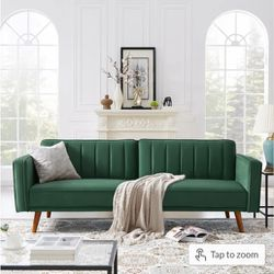 Futon  Sofa Bed in Green for Sale in Hanford, CA
