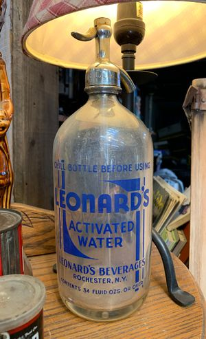 Antique Seltzer Bottle Leonard's for Sale in Whittier, CA