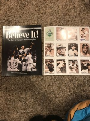 White sox World Series book with uncut sheet of baseball cards for Sale in Elk Grove Village, IL