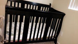 Black wood crib for Sale in Chula Vista, CA