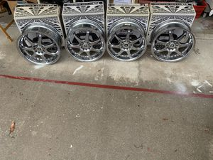 """Motegi 17"""" X 7"""" Racing Rims Chrome used Great shape Set of 4 all for $300 for Sale in Irwindale, CA"""