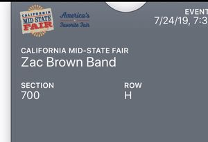 Zac Brown Band 2 Tickets for Sale in Cayucos, CA