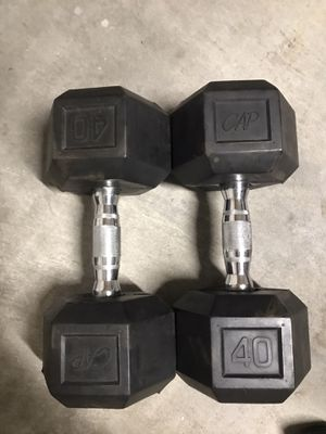 Pair of 40lbs dumbbells for Sale in Plano, TX
