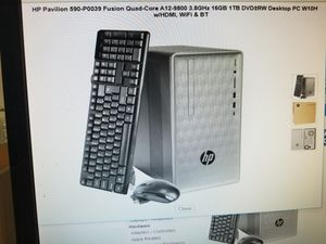 HP PAVILION DESKTOP COMPUTER 16GIG RAM WINDOWS 10. ICORE 5. 3.8GHZ. BRAND NEW SEALED BOX. KEYBOARD AND MOUSE INCLUDED for Sale in Los Angeles, CA