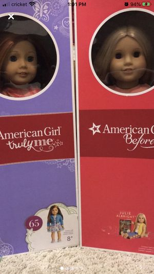 American girl dolls truly me #65 and Julie Albright for Sale in Nashville, TN