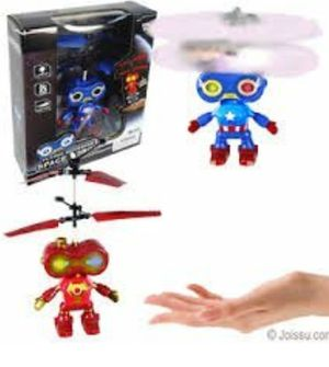 Marvel RC Toy, RC Flying Hovering space Robot, RC infrared Induction Helicopter Robot for Kids, Teenagers Colorful Flyings for Kid's Toy for Sale in Philadelphia, PA