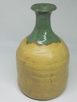 Antique Primitive French RARE yellow glazed bottle for Sale in Seattle, WA