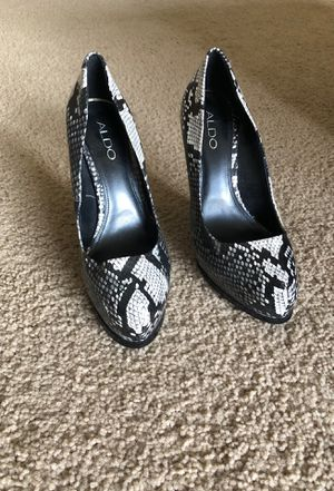 ALDO black/ white stiletto heels for Sale in Virginia Beach, VA