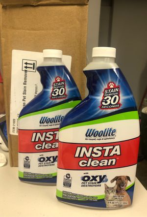 Woolite Insta Clean Pet Stain Remover 22 oz (pack of 2) for Sale in Los Angeles, CA